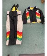 Vintage John Deere Snowmobile Winter Suit Mens M Jacket Pants Rare Liqui... - $399.99
