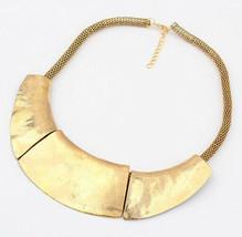 Women Bronze Gold Fashion Necklace&Pendants Choker Chunky Punk Collar - $15.43