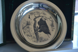American Bald Eagle Richard Younger Franklin Mint Sterling Silver Plate - $157.50
