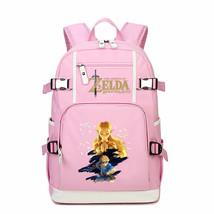 Legend Of Zelda Kid Backpack Schoolbag Bookbag Daypack Pink Large Bag E - $51.97 CAD