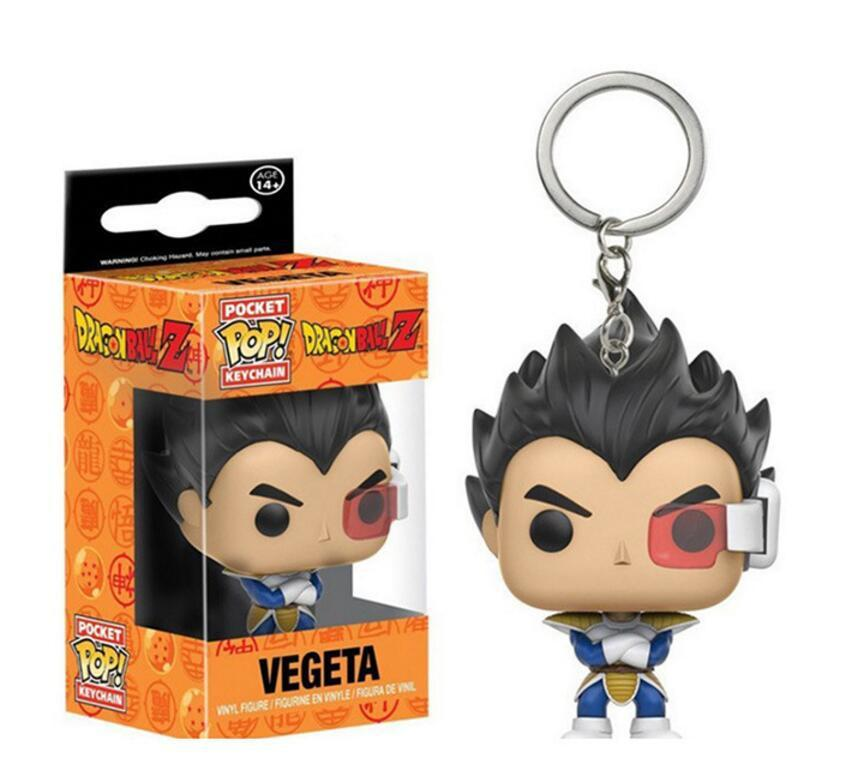 "Keychain Characters ""Dragon Ball Vegeta"" Action Figure Toys with box"