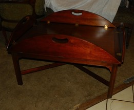 Book Matched Veneer Mahogany Butler Coffee Table by Baker  (RP)  (CT91) - $599.00