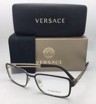 57c6d879e83 New VERSACE Eyeglasses 1236 1378 55-16 140 Matte Gold  amp  Brown  Rectangula.