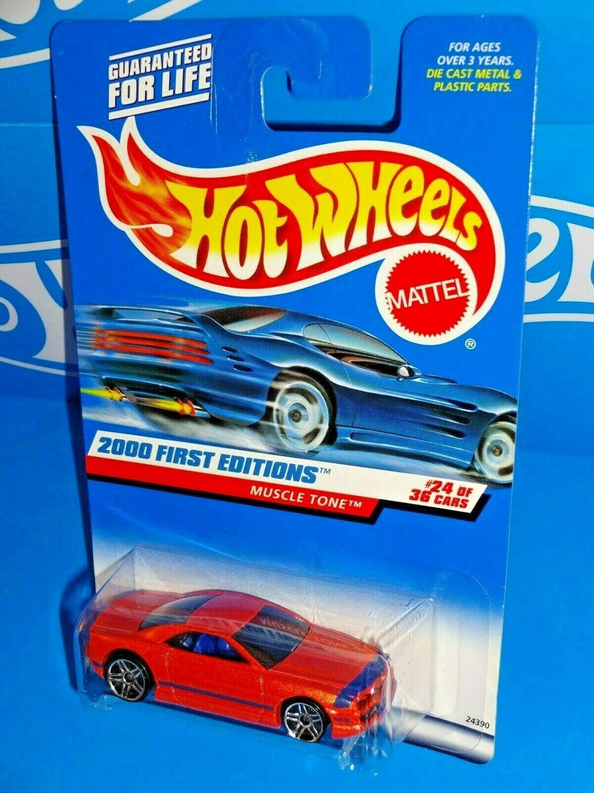 Primary image for Hot Wheels 2000 First Editions #24 Muscle Tone Orange Blue Int PR5s