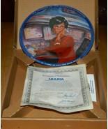Classic Star Trek Lt. Uhura Blue Border Ceramic Plate 1986 Ernst MINT IN... - $96.74