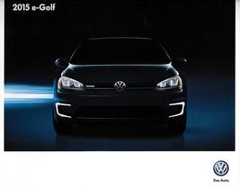 2015 Volkswagen e-GOLF sales brochure catalog US 15 VW SEL Electric - $8.00