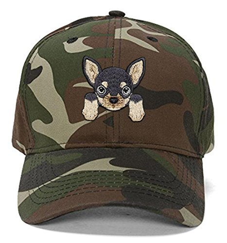 Chihuahua Hat - Cute Puppy Dog Face Adjustable Cap (Camo)