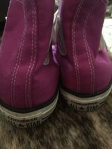 CONVERSE All Star Purple High Top Shoes Women's Size 8 Pre-Owned image 5