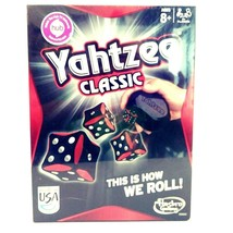 "Yahtzee Classic Game by Hasbro ""This Is How We Roll"" Red Black Dice Goth... - $21.11"