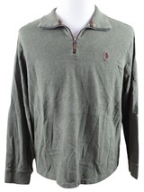 MINT Polo Ralph Lauren 1/2 Zip French Rib Pullover Sweater MENS XL Green... - $34.99