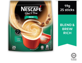 nescafe 3合1混合& Brew Rich Instant Coffee 25 Sticks(Express Shipping) -  $ 12.90