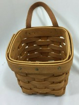 LONGABERGER Small Key Basket Vintage 1998 w/ Leather 26412 - $32.66