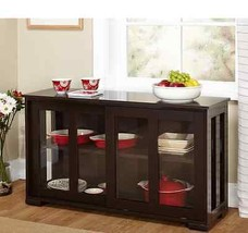 Stackable Glass Cabinet Sliding Door Fliing Buf... - $158.92