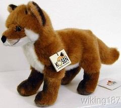 KOSEN Made in Germany NEW Large Standing Fox Cub Plush Toy - $116.01