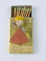 Vintage Match Box with Matches Box is Crafted with Angel on Top - $7.69