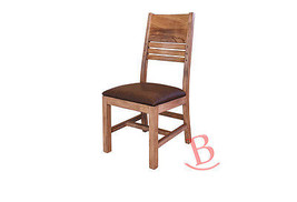 Chair With Solid Habillo Wood Back & Faux Leather Seat - $272.25