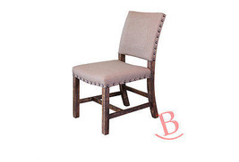 Cream Chair Hardwood Polyester Linen Rustic Upholstered - $262.35