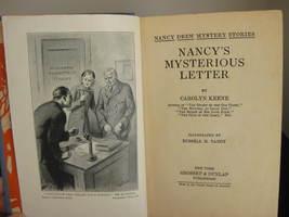 NANCY'S MYSTERIOUS LETTER #8 1932B 2ND Printing OEP 4 GLOSSIES NANCY DRE... - $39.95