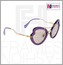 MIU MIU SCENIQUE Butterfly 11R Lilac Translucent Violet Gold Sunglasses MU11RS image 5