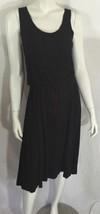 NEW NWT Andrea Jovine Dress Blouson Solid Black Sleeveless Womens Small ... - $39.56