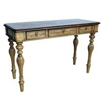 Vintage Vanity Table Antique Office Desk Wooden Carved Louis Furniture D... - €457,24 EUR