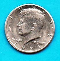 1971 D  Kennedy Halfdollar Circulated Very Good or Better  - $4.00
