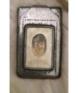 Vintage Match Safe Holder with Photo - $5.00