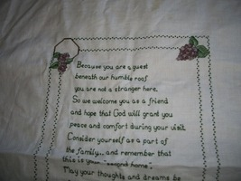 You Are A Guest Cross Stitch - $40.00