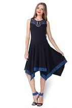 Pygmees Paris: Asymmetrical Ribbon Outlined Dress - $117.00