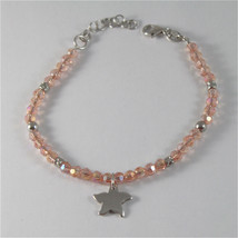 925 SILVER BRACELET WITH STARFISH AND MULTIFACETED BALLS MADE IN ITALY 59,00 USD image 1