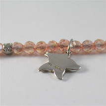 925 SILVER BRACELET WITH STARFISH AND MULTIFACETED BALLS MADE IN ITALY 59,00 USD image 2