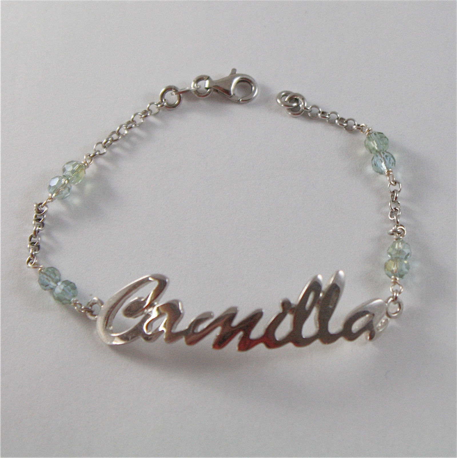 925 SILVER BRACELET WITH NAME CAMILLA AND CUBIC ZIRCONIA MADE IN ITALY 79,00 USD