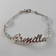 925 SILVER BRACELET WITH NAME CAMILLA AND CUBIC ZIRCONIA MADE IN ITALY 79,00 USD image 1