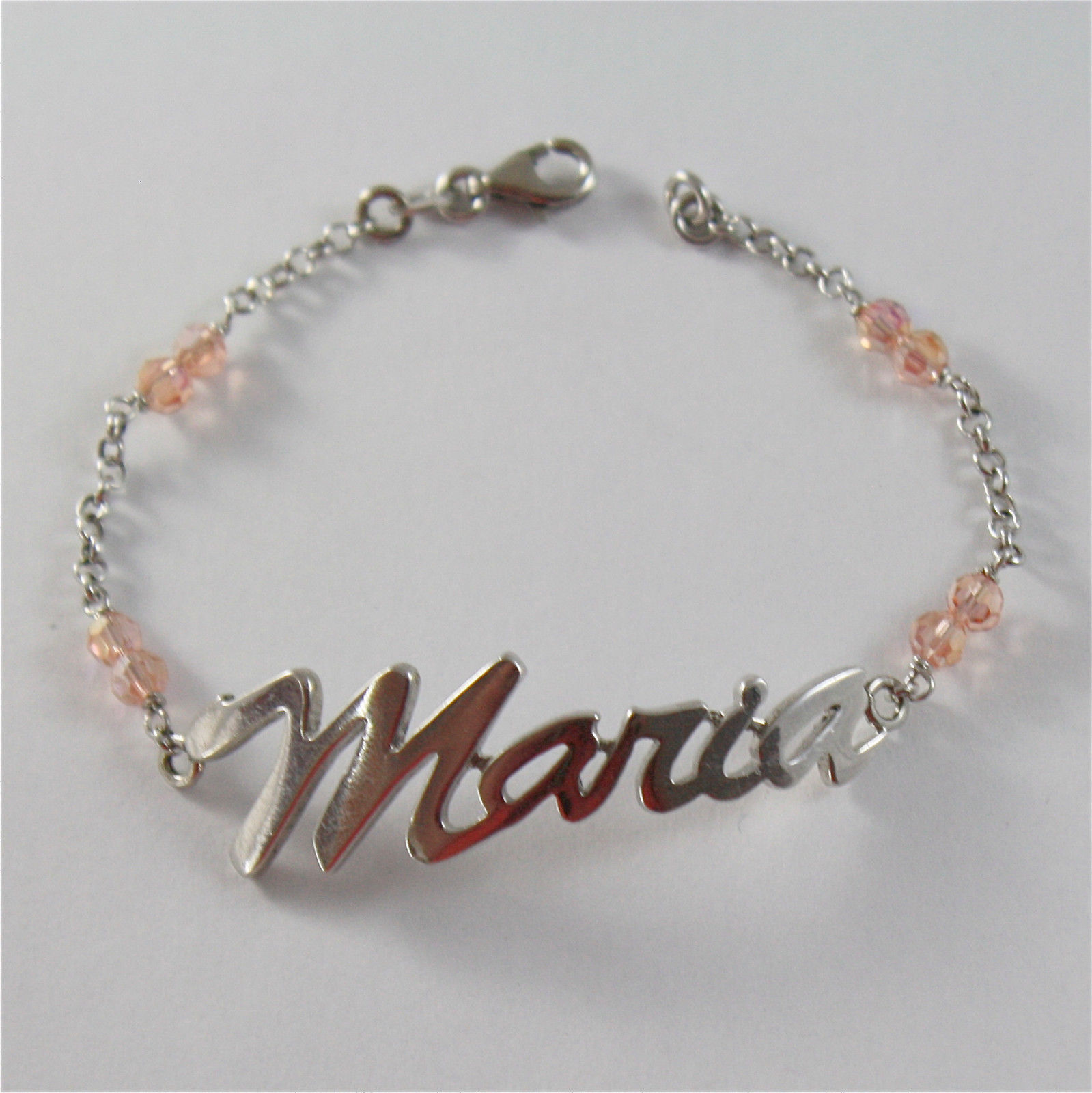 925 SILVER BRACELET WITH NAME MARIA AND CUBIC ZIRCONIA MADE IN ITALY 79,00 USD