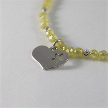 925 SILVER BRACELET WITH HEARTS & YELLOW CUBIC ZIRCONIA MADE IN ITALY 59,00 USD image 3