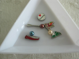 S3 Charms for Memory locket Floating Charms set of 8 Love to go camping 2 - $1.50
