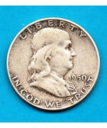 1950 Ben Franklin Half Dollar  SILVER - $18.00