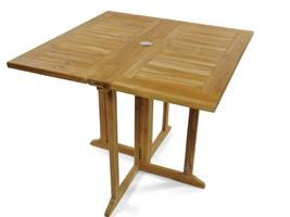 "Premium Grade A Teak 31"" Square Barcelona DropLeaf Folding Table,Use w/1 Leaf... - $750.00"