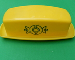 Vintage yellow plastic butter dish  1  thumb155 crop