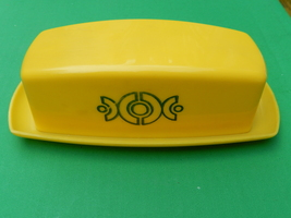 Vintage Yellow Plastic Butter Dish - $3.99