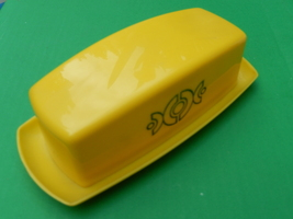Vintage yellow plastic butter dish  2  thumb200