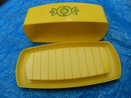 Vintage yellow plastic butter dish  4  thumb200