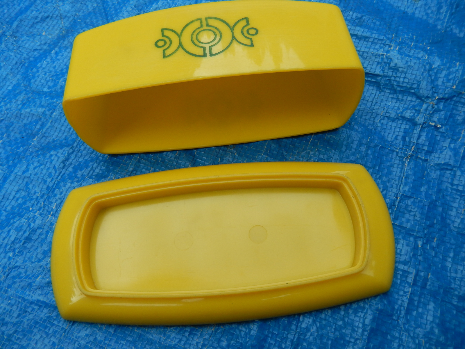 Vintage Yellow Plastic Butter Dish