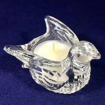 "Vintage Avon ""Dove in Flight"" Clear Glass Meadow Morn Scented Candle - N... - $14.92"