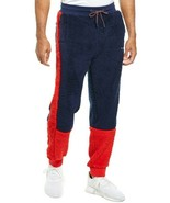 NWT FILA BENSO CURLY FLEECE JOGGER SWEATPANTS IN RED & BLUE sz L - $40.15
