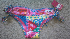 Candies Bathing Suit Swimwear Misses Size XS Bottom Bikini Pants tropical pr NEW - $12.71