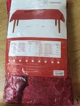 Kohls Dark Red Oval Tablecloth 60 144 Seats 12-... - $29.35