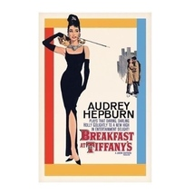 Audrey Hepburn Breakfast at Tiffany's Classic Movie Art Poster Print 24x36 - $19.00