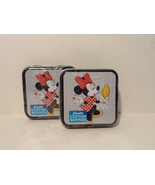 Disney Minnie Mouse Cosmetic Cotton Rounds Cotton Bud Tin Collector Seri... - $5.70