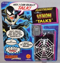 1991 Marvel Super Heroes Electronic Talking Venom VARIANT (web front) - $14.99